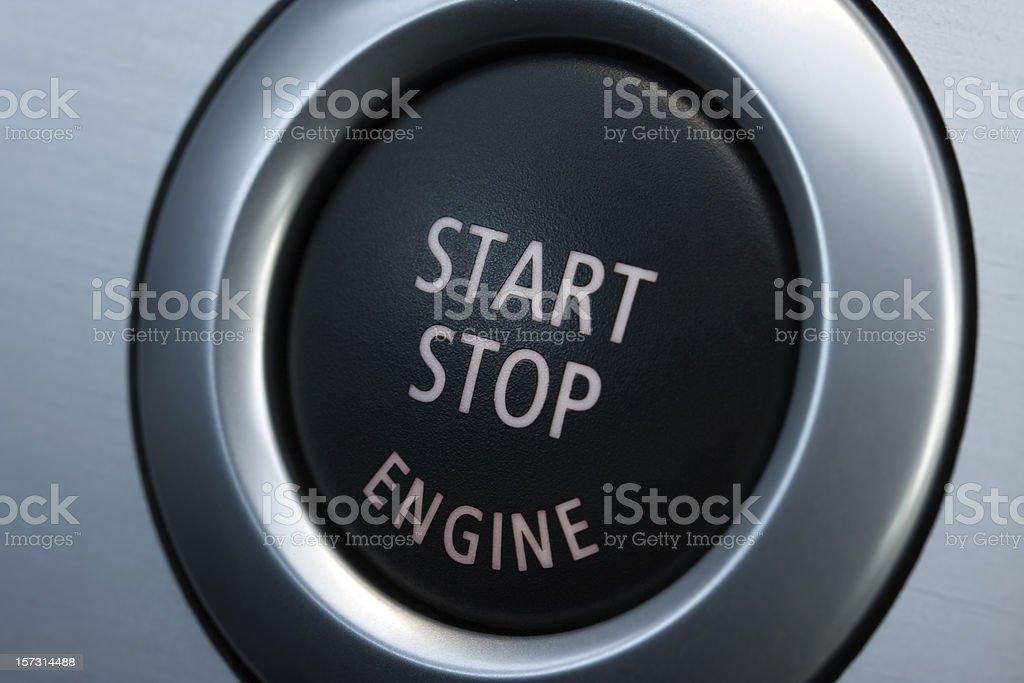 Start stop engine royalty-free stock photo