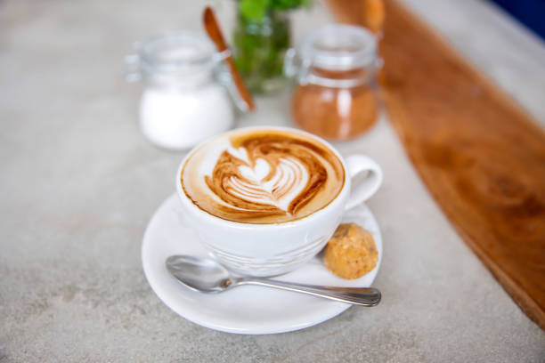 Start the day with morning coffee stock photo