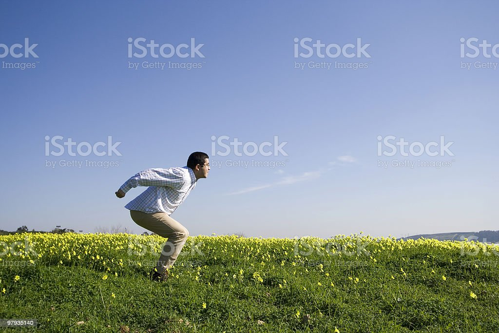 Start the jump royalty-free stock photo