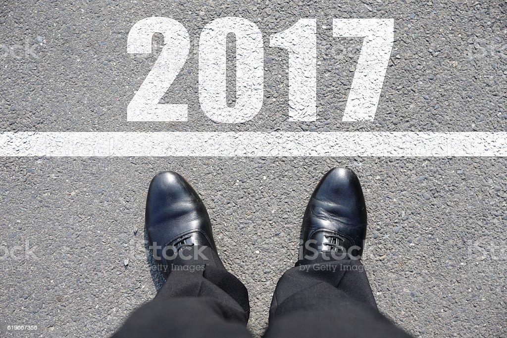 Start to new year 2017 stock photo