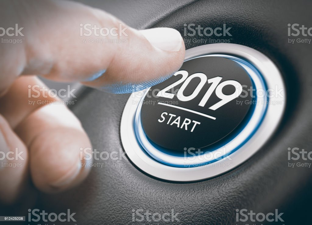 2019 Start, Two Thousand Nineteen. stock photo