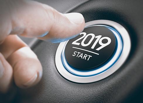 2019 Start Two Thousand Nineteen - Fotografie stock e altre immagini di 2019