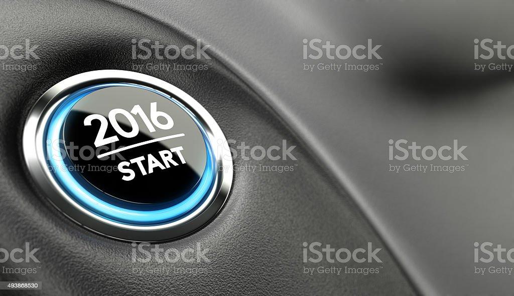 2016 Start, Two Thousand Sixteen. stock photo