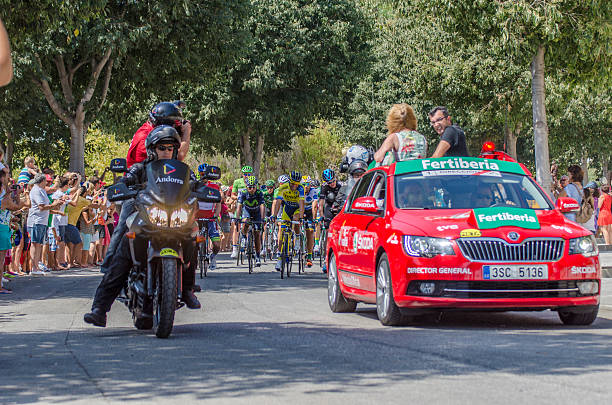Start up at Spain's Vuelta 14 stock photo