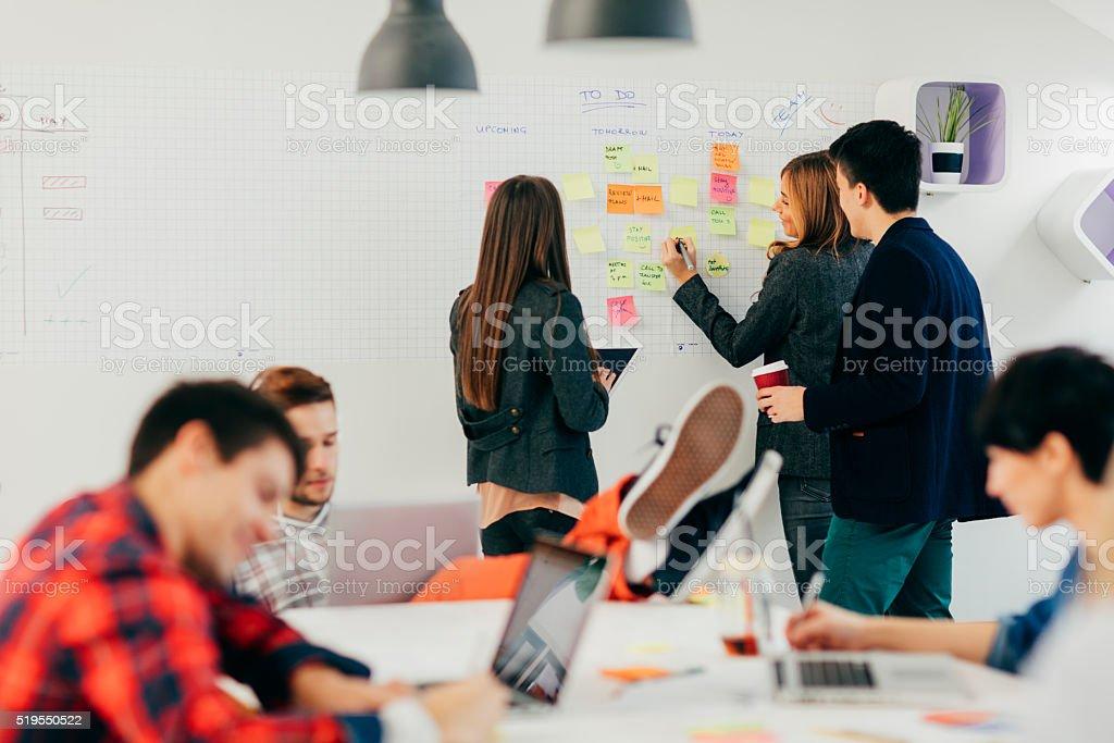 Start Up Community At Work. stock photo
