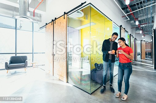 istock Start up meeting in Co-working office 1131394348
