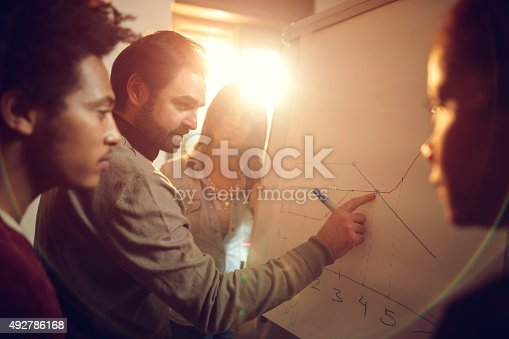 497812268 istock photo Start up team working on a business chart together. 492786168