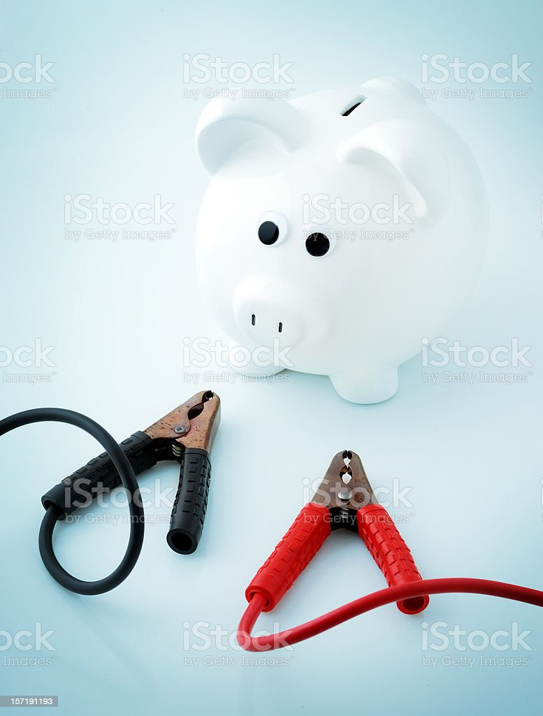 start your saving engine royalty-free stock photo