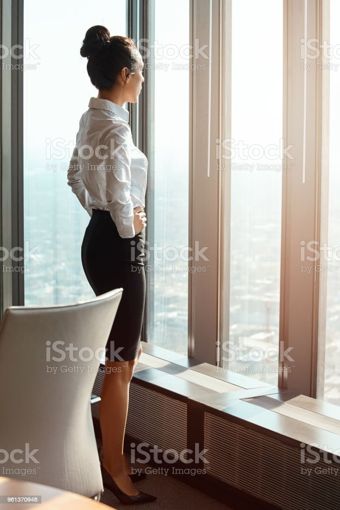 Started from the bottom now she's here stock photo