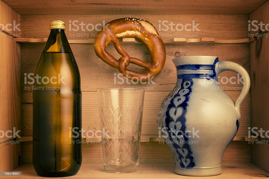 Starter Box for the Hassia Cider Culture, Bembel, Apfelwein royalty-free stock photo