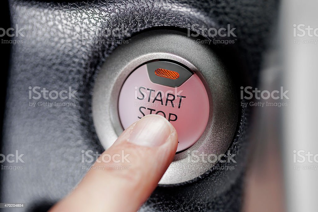 Starting a car stock photo