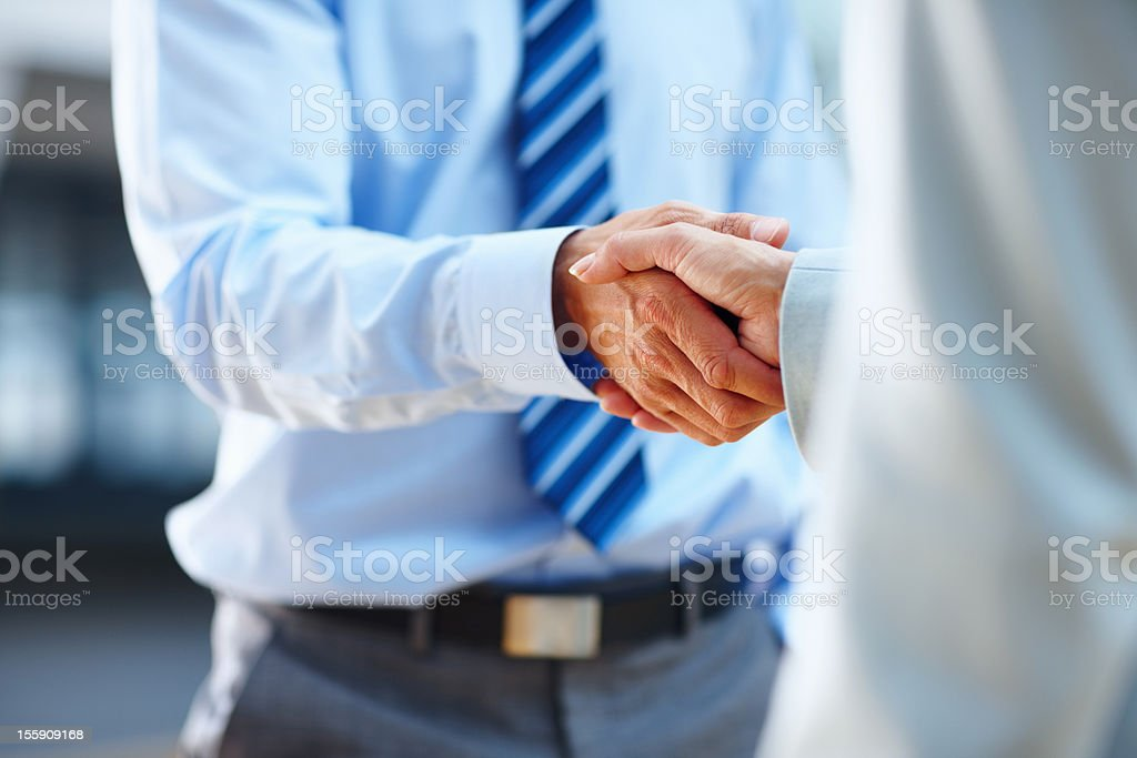 Starting a new partnership stock photo