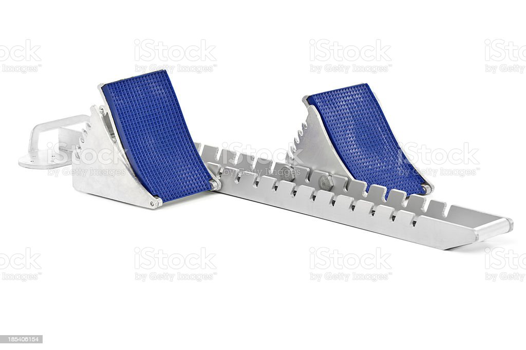 starting block with place for text stock photo