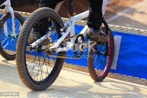 Starting BMX race