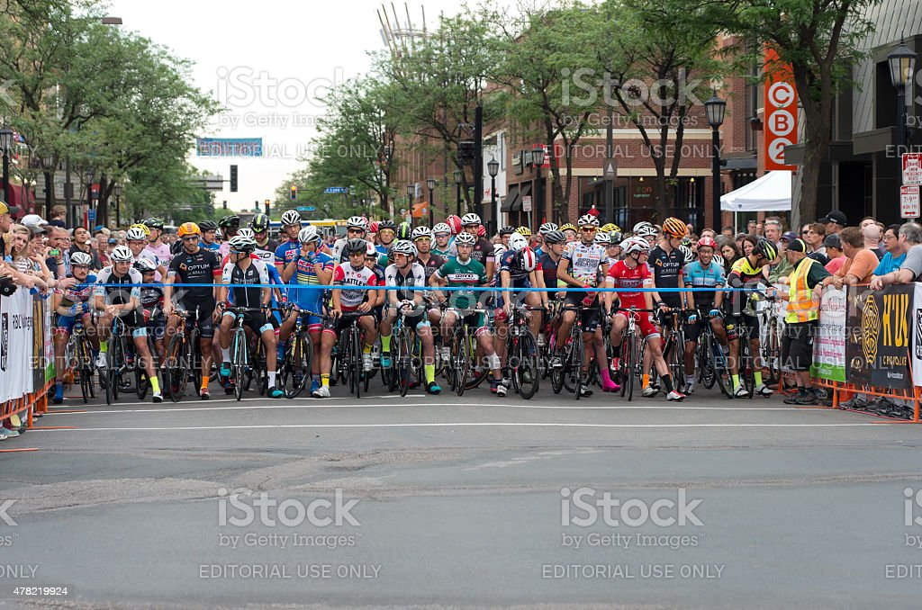 Starting Line for Uptown Criterium stock photo