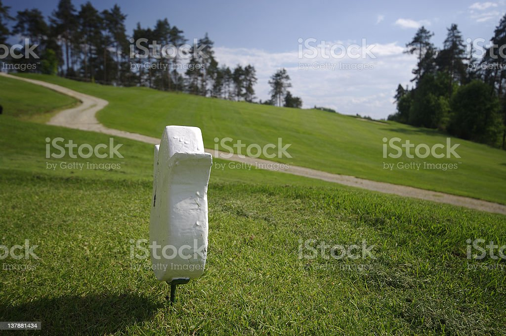 Starting line on a golf course royalty-free stock photo