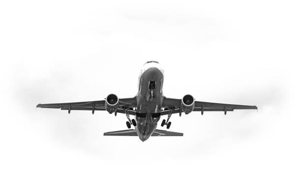 startendes Flugzeug – Foto