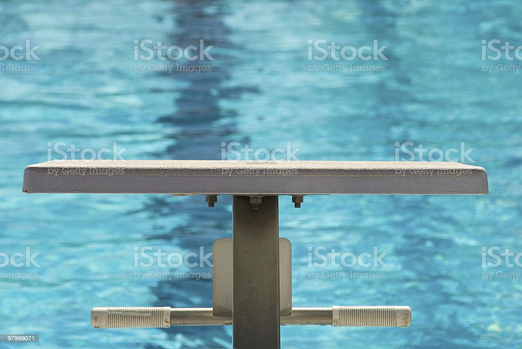 Starting platform at the pool royalty free stockfoto