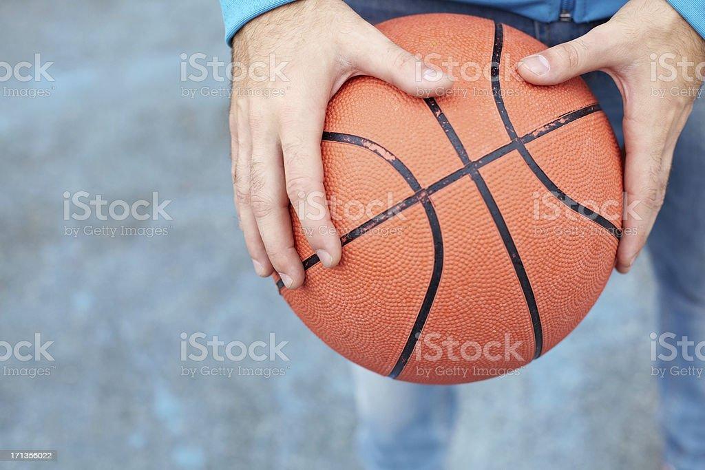 Starting playing basketball stock photo