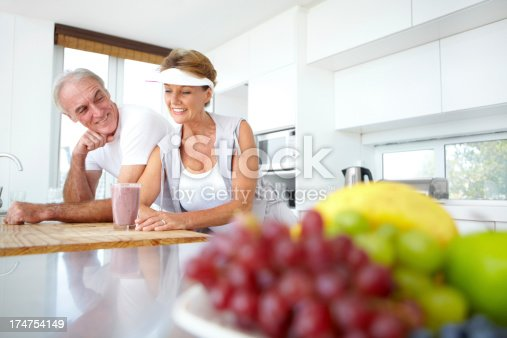 930265372 istock photo Starting the day with a healthy fruit smoothie 174754149