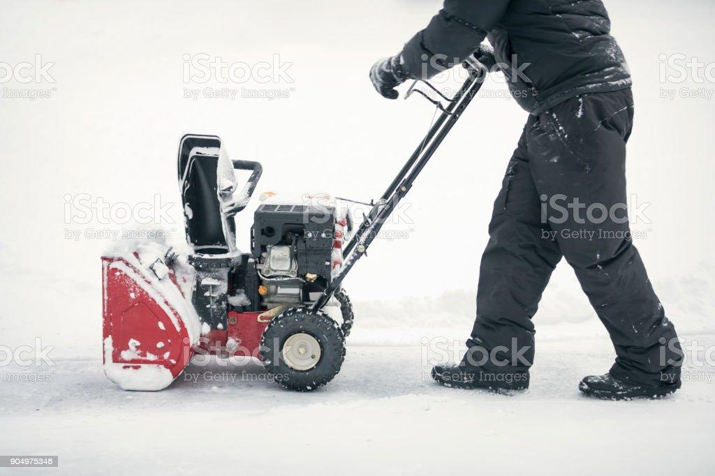 Starten Sie die Schneefräse – Foto