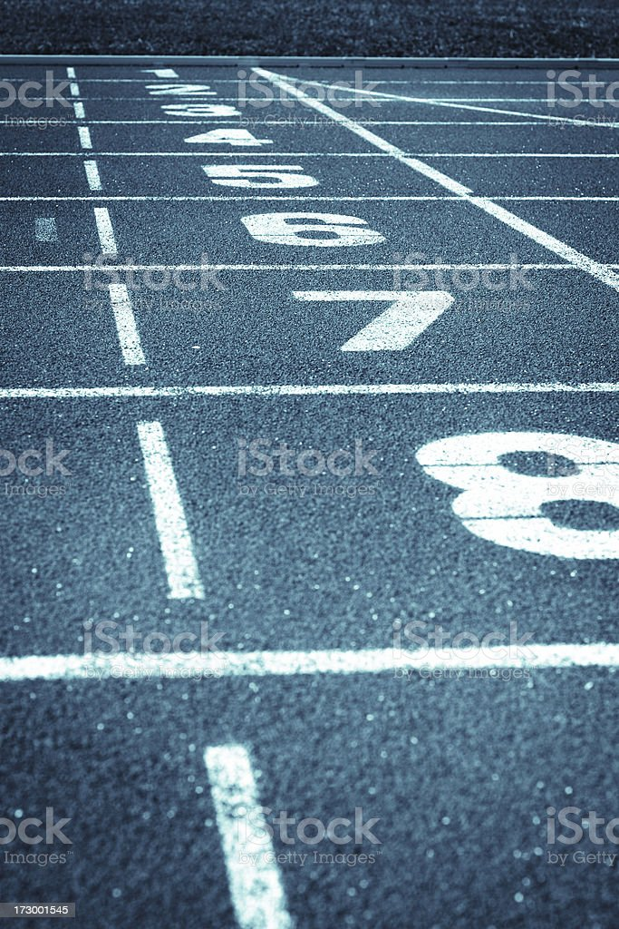 Starting Zone royalty-free stock photo