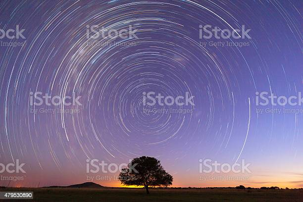 Photo of Startrails at blue hour