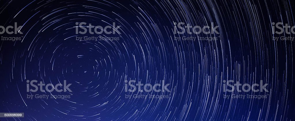 Startrails banner - Royalty-free Galaxy Stock Photo