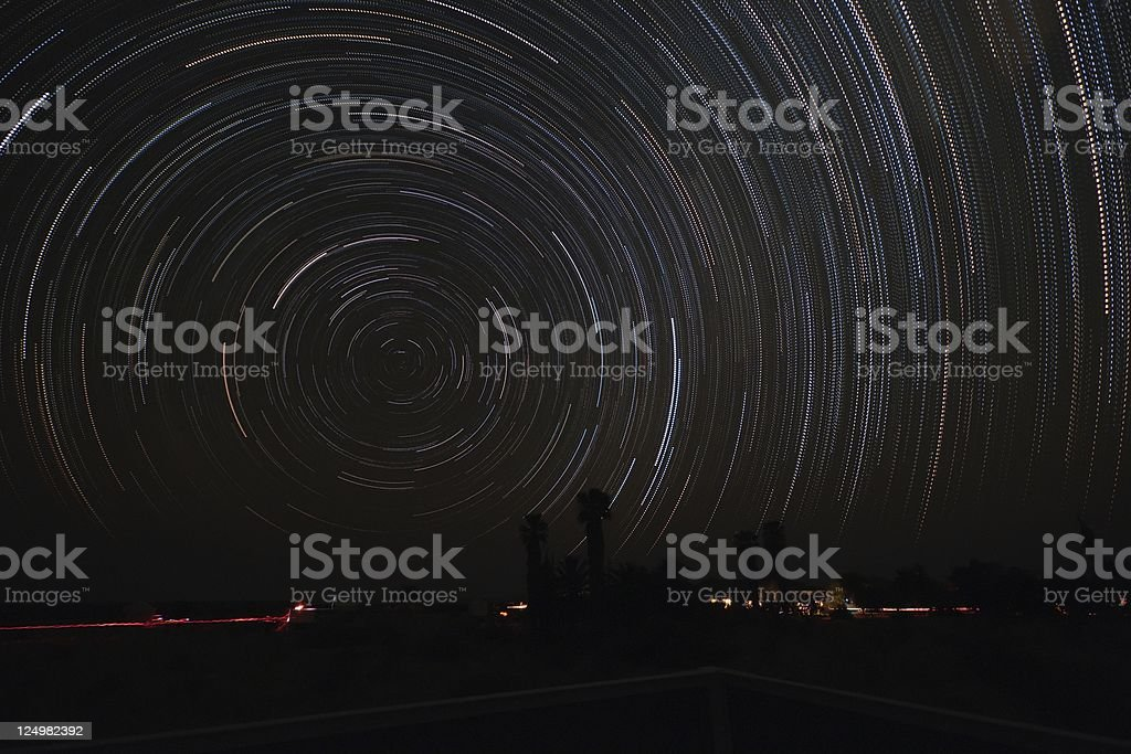 Startrails royalty-free stock photo
