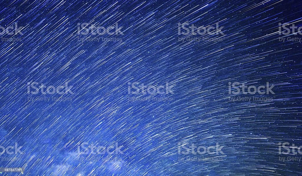 Startrails stock photo