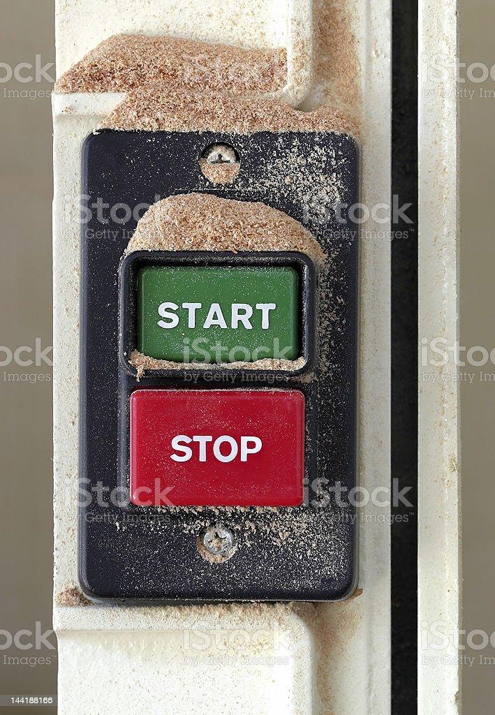 Start/Stop Switch stock photo