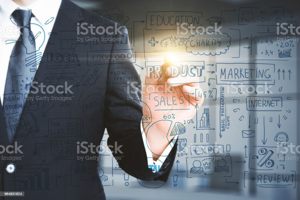 Startup and marketing concept royalty-free stock photo