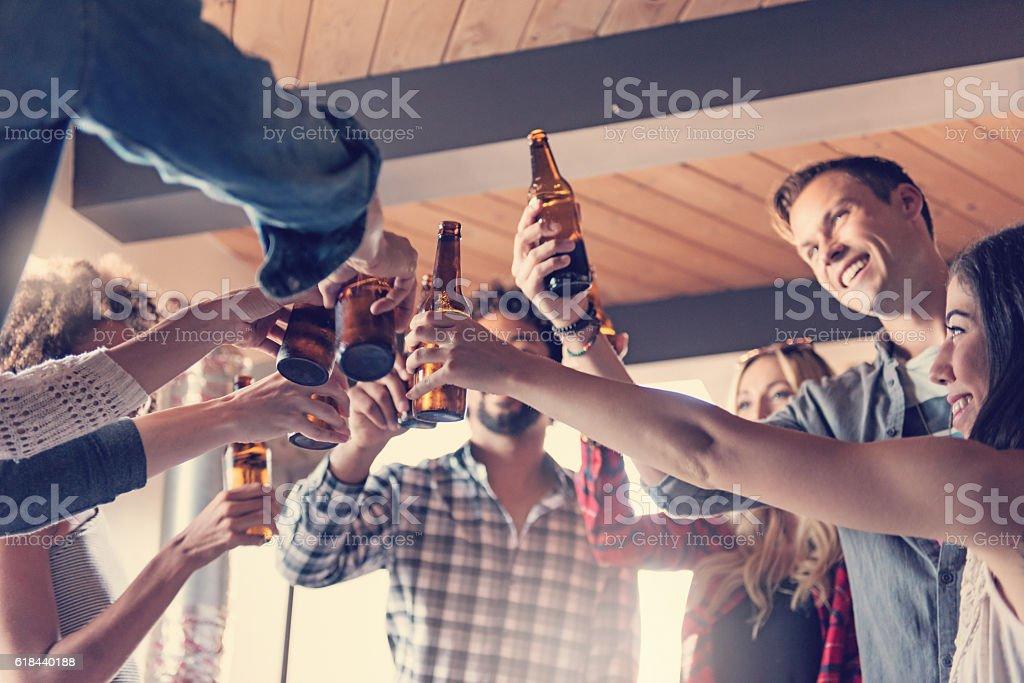Startup Business Celebrating stock photo