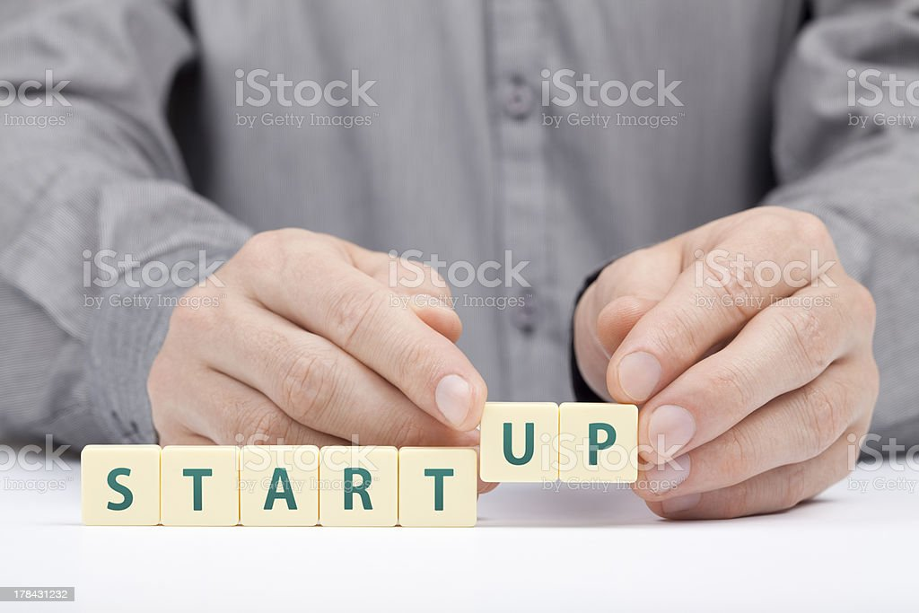 Startup business concept royalty-free stock photo