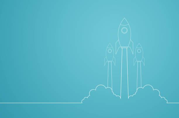 start business plan konceptet innovation kreativ idé design ledarskap raket flyger upp till sky infographic strategi mål till framgång av management marknadsföring finansiera investeringar utvecklingsprojekt. - projektledning bildbanksfoton och bilder