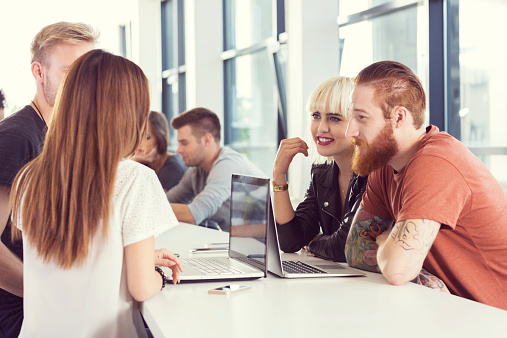Startup Business Team Working Together On Laptops Stock Photo - Download Image Now