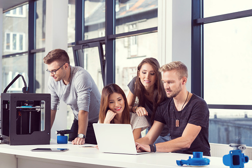 Startup Business Team Working Together Stock Photo - Download Image Now