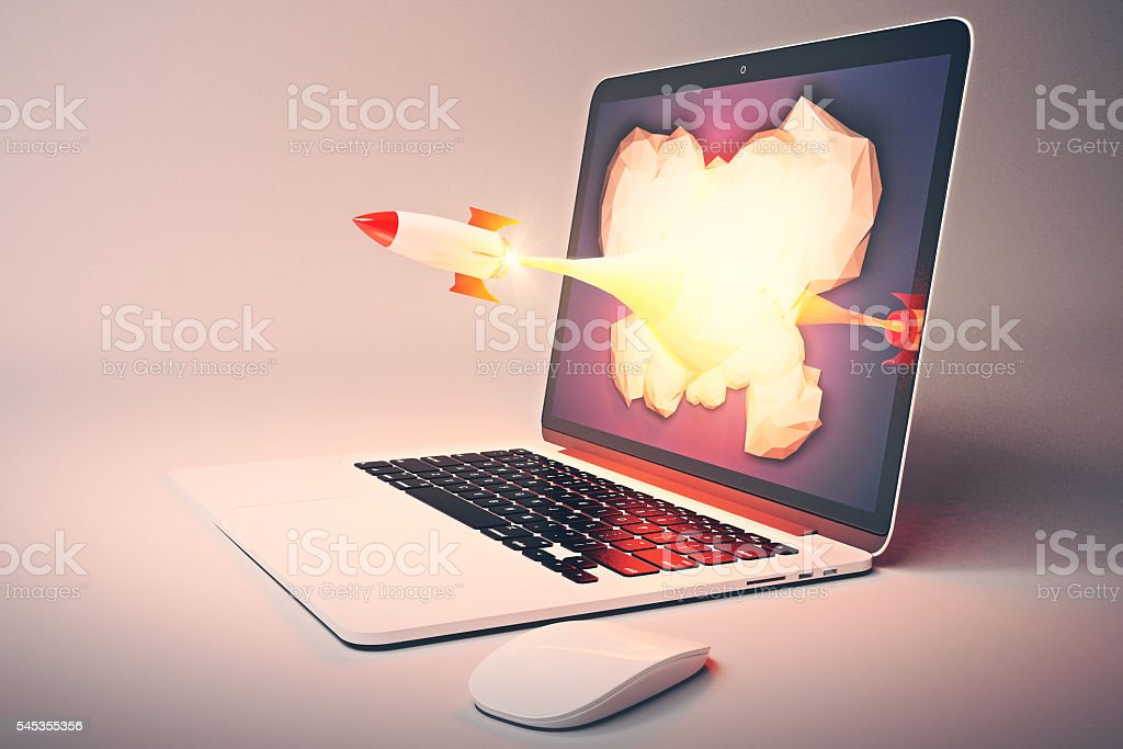 Startup gray side stock photo