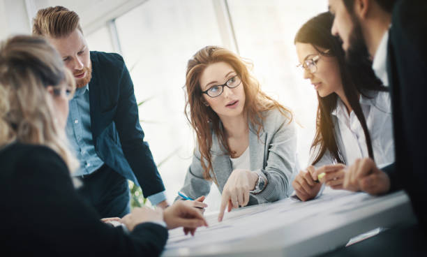 startup meeting. - market research stock photos and pictures