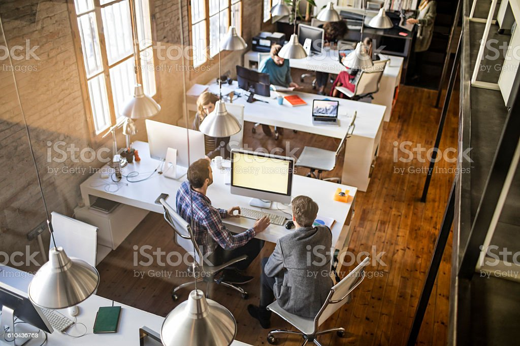 Startup office stock photo