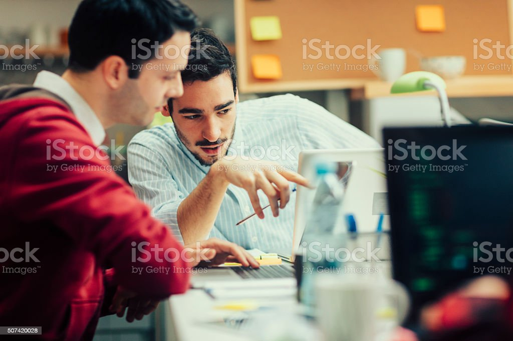 StartUp Programming Team. stock photo