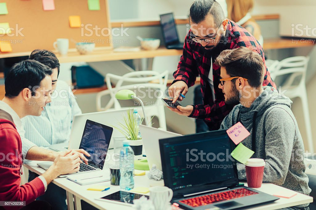 StartUp Programming Team. stock photo