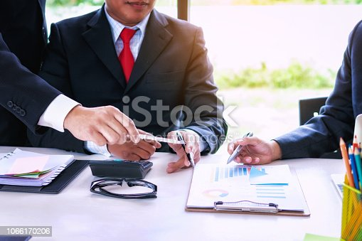 951092116istockphoto Startup project business team with people co-working for analyzing financial data investment in office.Teamwork successful meeting workplace strategy concept. 1066170206