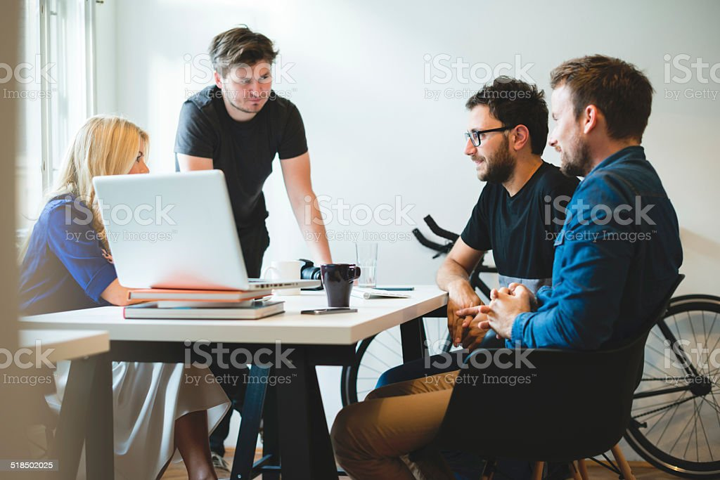 Start-up Team royalty-free stock photo