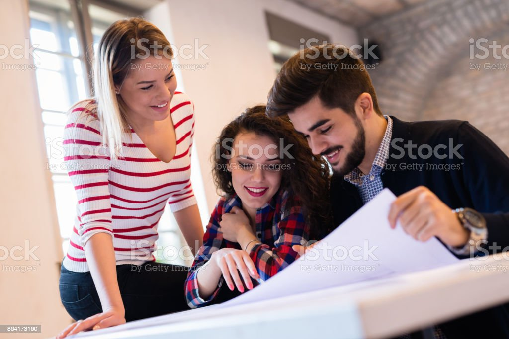 Startup Teamwork Brainstorming Meeting concept in office royalty-free stock photo