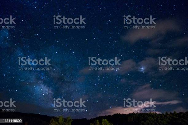 Photo of stary night village view