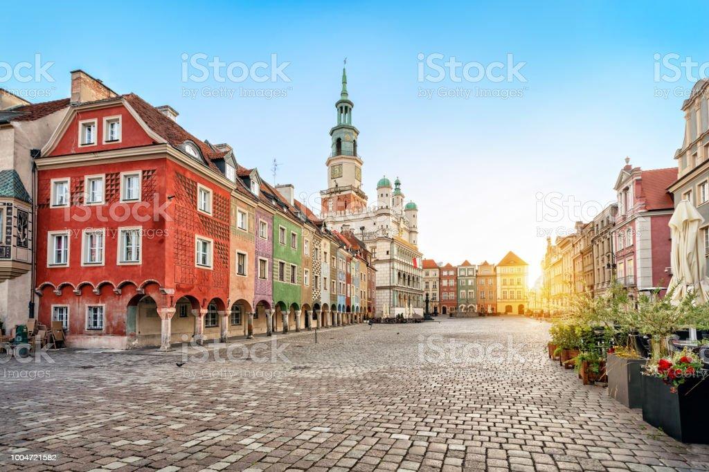 Quadratische Stary Rynek und alten Rathaus in Poznan, Polen – Foto