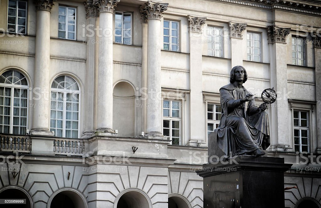 Staszic Palace stock photo