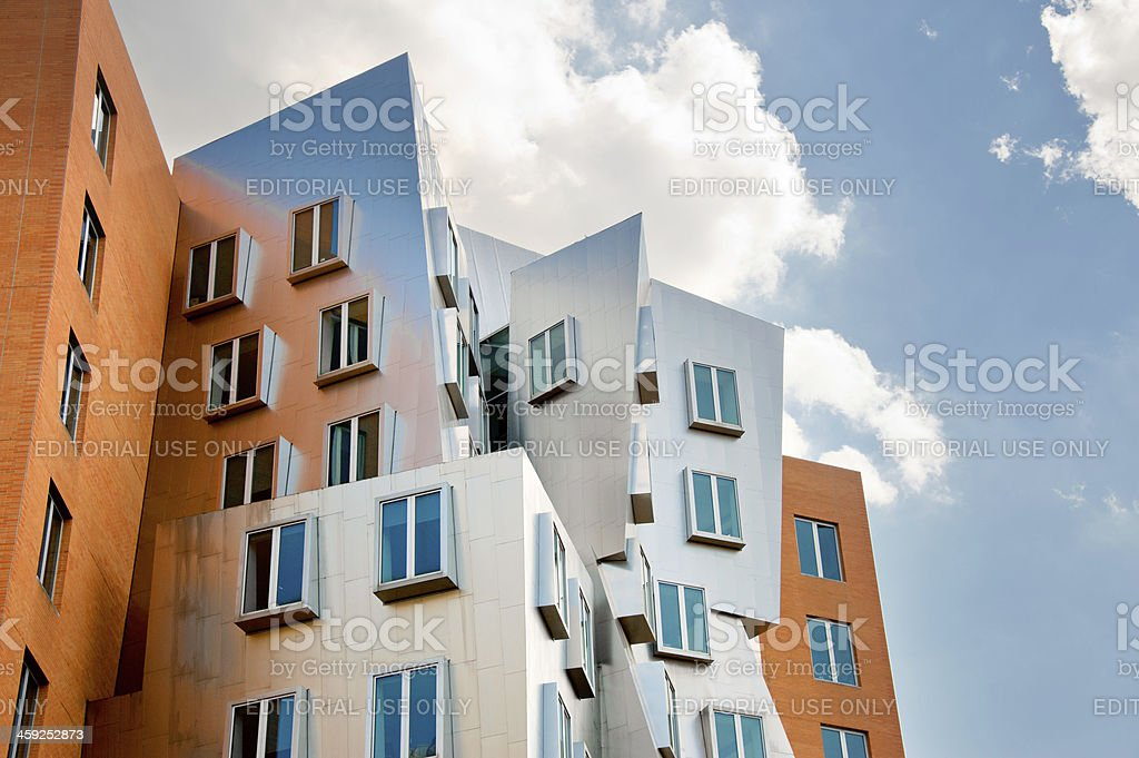 Stata Center on MIT Campus in Cambridge, Massachustets royalty-free stock photo