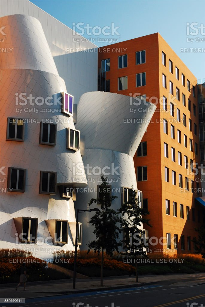 Stata Center on the MIT Campus stock photo